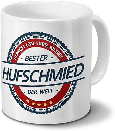 Preisvergleich für Tasse mit Beruf Hufschmied - Motiv Berufe - Kaffeebecher, Mug, Becher, Kaffeetasse - Farbe Weiß