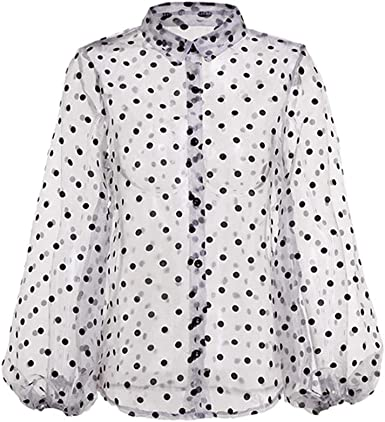 Manga Larga Camisetas Mujer - Moda Manga Abullonada Camisa ...