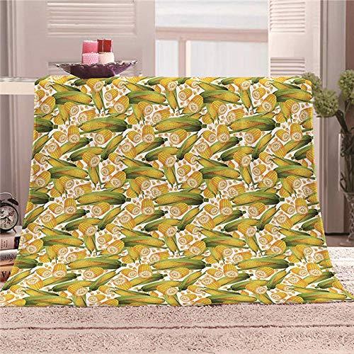 ZFSZSD Wohndecke Cartoon Mais Tagesdecke aus weichem Flanell, 3D-Digitaldruck Couch Sofa passend für die ganze Saison 70x100cm