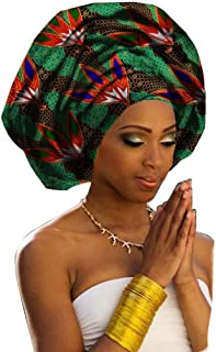 "Chien TJ04 Multi-Color Urban Ladies Hair Accessory Headband,Bazin Wax Print Wrap Tie Scarf, African Head Scarf Gele Ipele Extra Long 70""x20"""