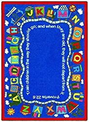faith bases bible train kids rug