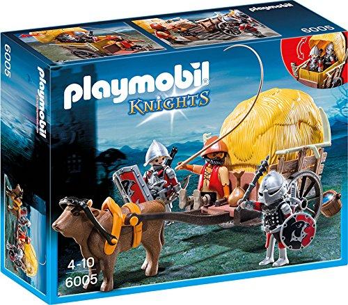 Playmobil- Knights Giocattolo Carro Trappola dei Cavalieri del Falcone, Multicolore, 6005