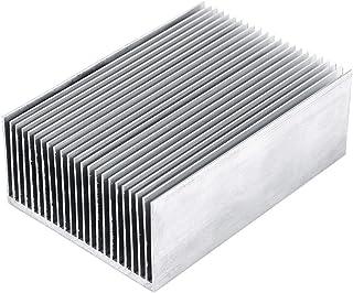 Idalinya 1pc Disipador De Calor De Aluminio Disipador De Calor Refrigeración Para Amplificador Led Transistor Módulo Ic 100 * 69 * 36 Mm