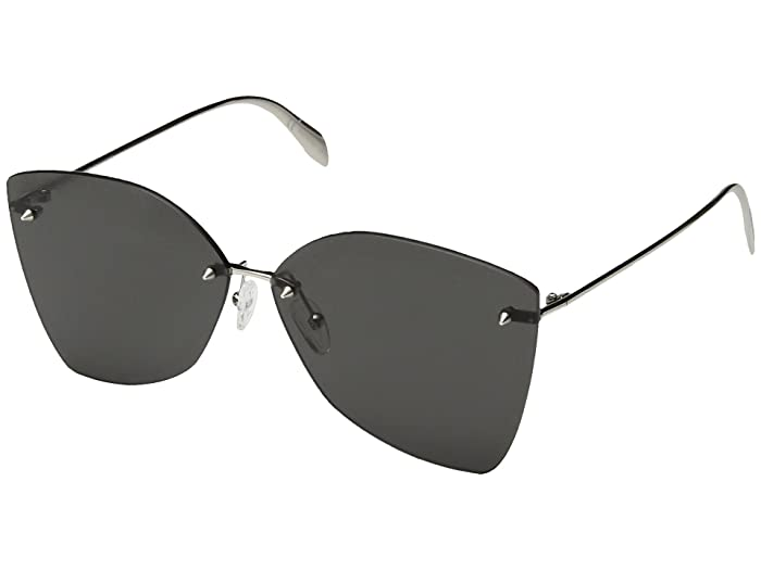 Alexander McQueen  AM0119SA (Silver/Grey) Fashion Sunglasses