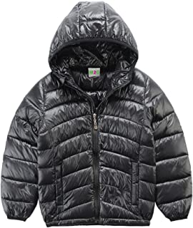 M2C Boys Girls Hooded Ultra Light Packable Windproof Down Jacket