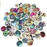 100 pezzi Bottoni in Legno, bottoni da cucire rotondi bottoni vintage bottoni colorati a 2 fori per cucito fai da te decorativo