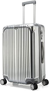 Kroeus ABS Hardshell Luggage Suitcase Spinner Carry On TSA Lock 20 Inch Silver