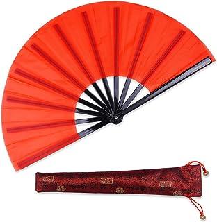 HONSHEN Folding Fan red Folding Fan Red