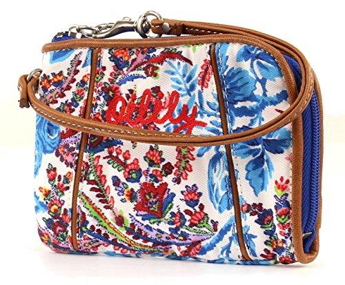 Oilily Wrist Wallet Borsa Geldbeutel Dutch Flower Blu Blue