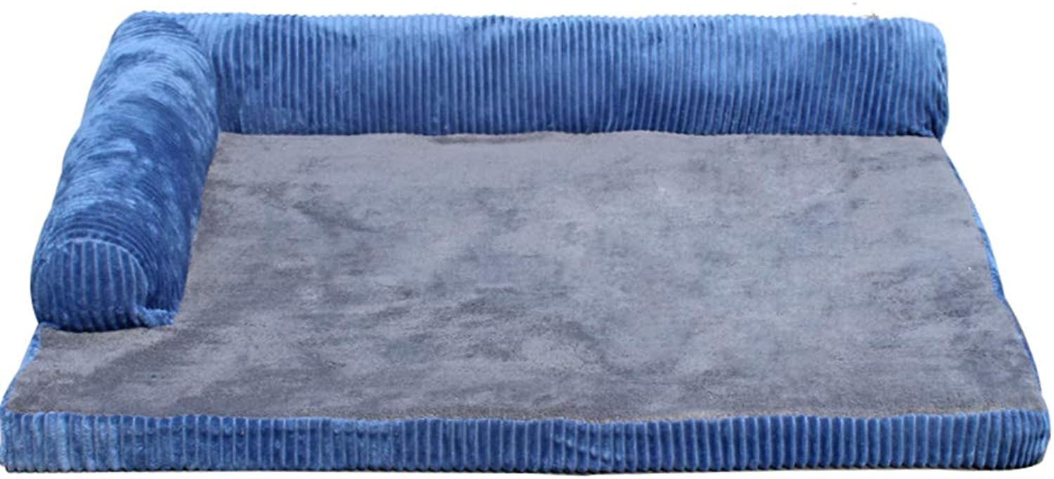 Dog Bed for Small Dogs, Durable Indestructible Washable Removable Puppy Kennel Beds for Doggie Doggy (color   bluee, Size   50×45cm)