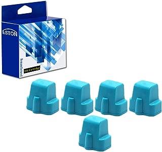 ESTON 5 Cyan Replacements for HP 02 02XL Ink Cartridge for Photosmart C7280 3310 D7360 D7160 C5180 8250