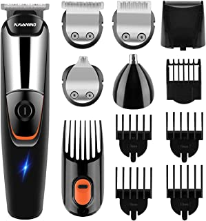 NAVANINO Hair trimmer Beard trimmer for men hair clippers kits nose trimmer precision trimmer Long hair trimmer Grooming kit 5 in 1 for Nose Ear Facial Hair, Corded and cordless operation, waterproof