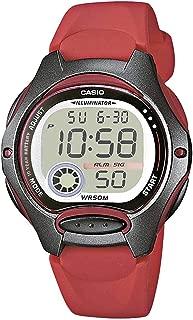 Women's LW-200-4AVEF Casio Collection Digital Quartz Red Resin Watch