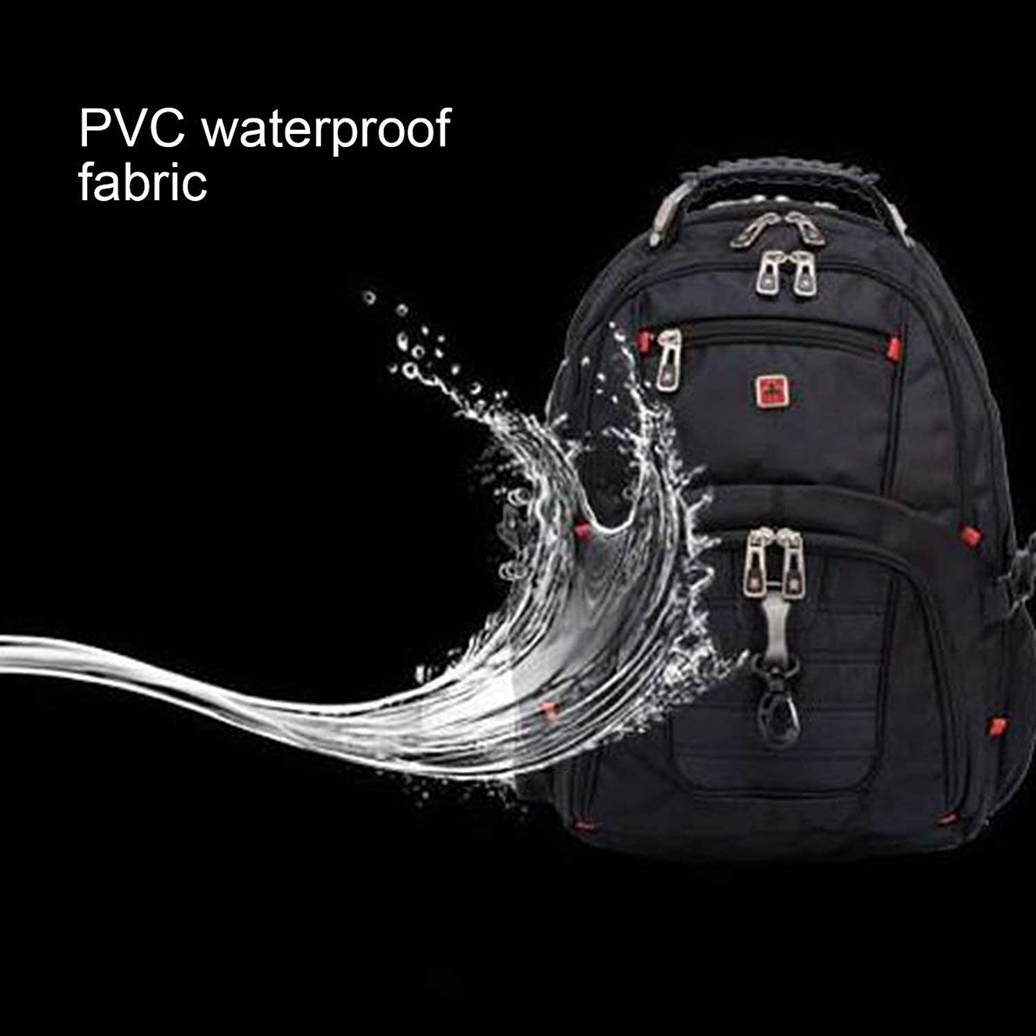 Laptop Backpack, 15.6inch Business AntiTheft Nylon Travel Bag Waterproof Large Compartment College School Computer Notebook Bag, for Unisex Hiking Climbing Bag