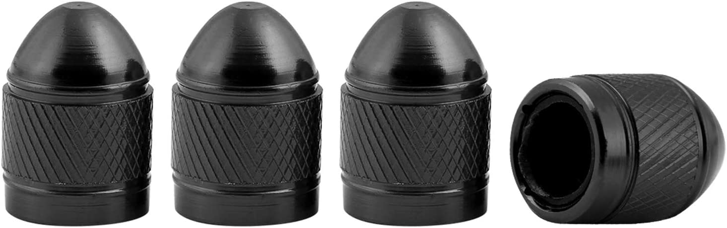 Pour pneus de voiture Lot de 4 bouchons de valve de pneu de voiture en alliage d/'aluminium