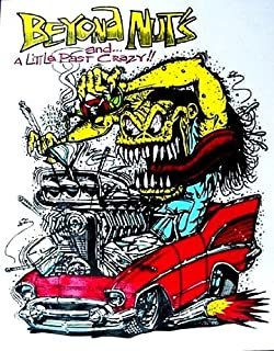 Rat Fink 57 CHEVY ... Beyond nuts ! Hot Rod Decal / Sticker