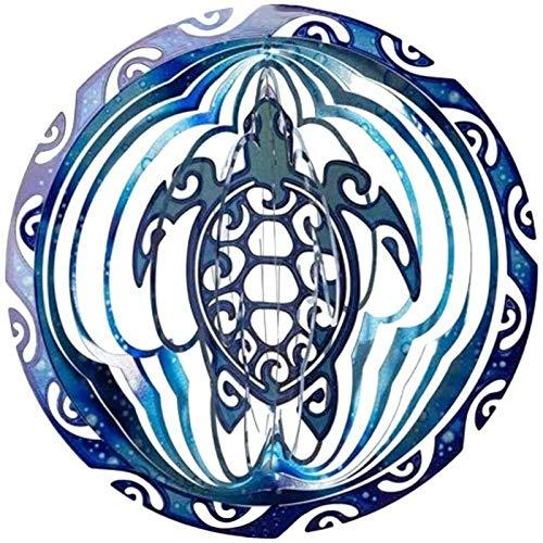 NUOLANDE Meeresschildkröte Wind Spinner Ornament Spinner Turtle 3D Kinetic Metall Outdoor Garten Yard/Garten Kunst Kinetische Spinner, 2021 Memorial Kunst Geschenk