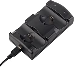 VSEER Playstation 3 Controller Charging Dock Charging Station 2 in 1 with LED Light Indicator Compatible for Playstation PS3/MOVE Controller, Black