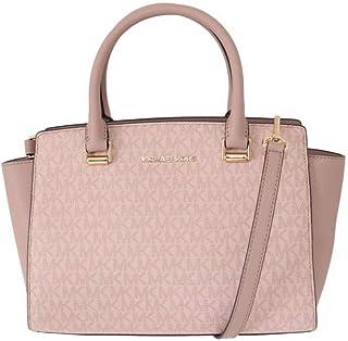de0bdc5a877c Michael Kors Selma Saffiano Leather Medium Top Zip Satchel Bag -  Fawn Ballet Pink