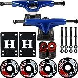 Core Dark Blue Skateboard Trucks, Wheels, ABEC 5 BEARIN