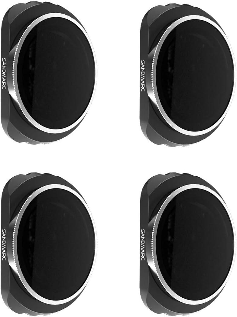 SANDMARC Pro Filters for DJI Osmo Pocket - ND4/PL, ND8/PL, ND16/PL, ND32/PL Filter Set (4-Pack)