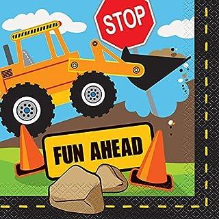 Construction Party Paper Napkins by Unique Party