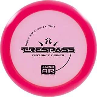 Dynamic Discs Lucid Air Trespass Disc Golf Driver | Frisbee Golf Disc | Maximum Distance Driver | Stamp Colors Will Vary