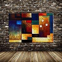 """抽象的な色のブロック壁画画像キャンバス絵画壁アートポスターとプリントリビングルームオフィスの家の装飾23.6"""" x35.4""""(60x90cm)フレームレス"""