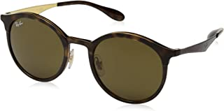 Women's RB4277 Emma Round Sunglasses, Matte Tortoise/Brown, 51 mm
