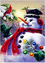 DIY 5D Snowman Full Drill Diamond Painting,Jchen(TM) Merry Christmas Home Decor 5D DIY Diamond Painting Round Diamond Embroidery Cross Stitch Kits (C)