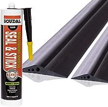 STEIGNER Garagedeur afdichting incl. montagelijm vloerafdichting van EPDM, 3m, 20mm x 112mm, SGD02