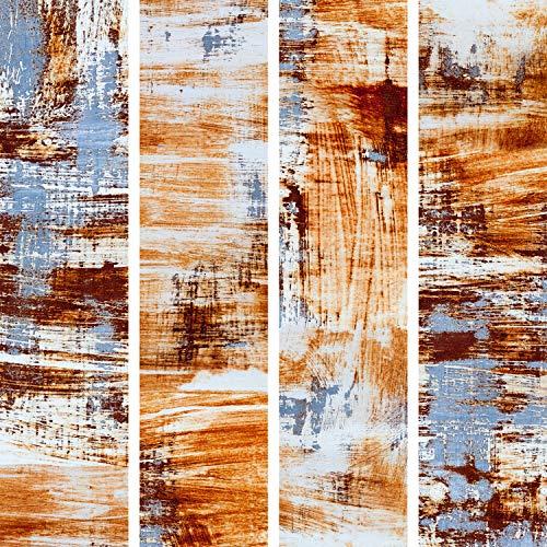 murando - PURO TAPETE - Realistische Tapete ohne Rapport und Versatz 10m Vlies Tapetenrolle Wandtapete modern design Fototapete - Orange Blau Beton f-C-0238-j-a