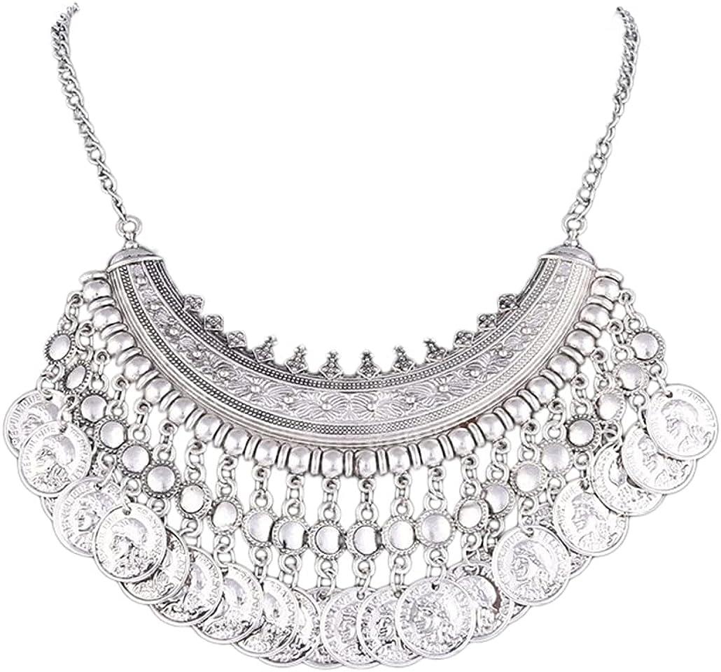 SONTONXON Maxi Boho Power Collar Choker Necklace Vintage Gypsy Ethnic Statement Necklace Women Jewelry