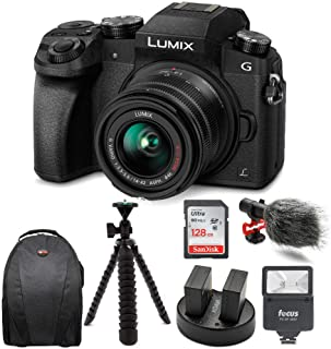 Panasonic LUMIX G7 Mirrorless Digital Camera (Black) w/128GB Accessory Bundle
