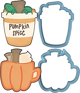 Pumpkin Spice Cookie Cutter Set - American Confections Pumpkin Latte, Pumpkin Mug
