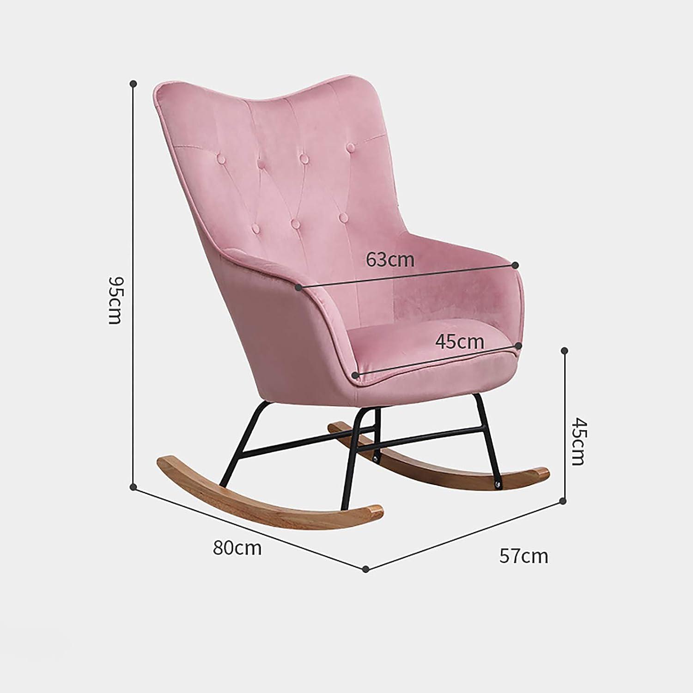 ATTDDP Chaise Berçante,New Relax Fauteuil À Bascule Chaise Longue, Retro Tissu Velours Rocker Design Fauteuil Relax, pour L'extérieur Jardin Salon Chambre,E E