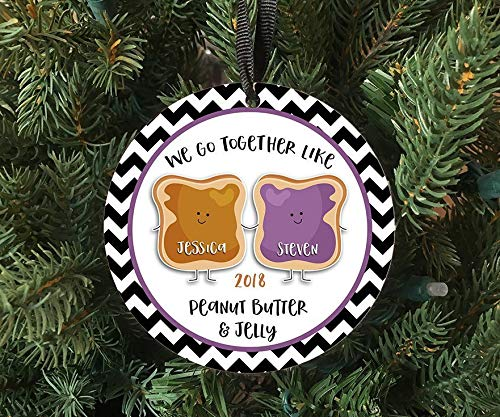 For367Walton Personalized Peanut Butter Jelly Couple Ornament Keepsake Custom Made To Order 2018