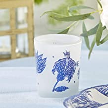 Kate Aspen Blue Willow Frosted Glass (Set of 4) Holders, One Size Votive