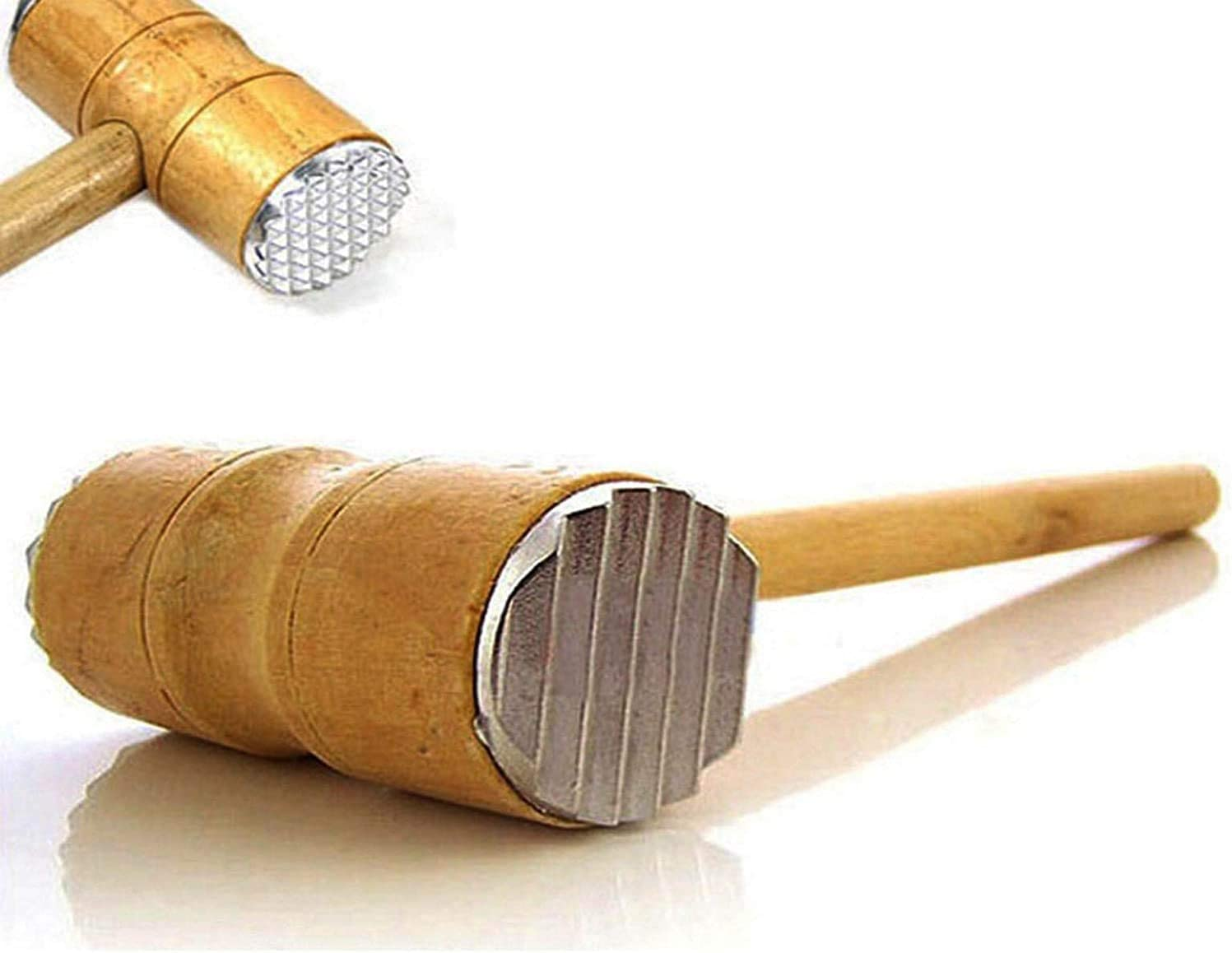 Meat Tenderizer Beef Max Many popular brands 79% OFF Hammer Wooden For Handle Mallet Tool