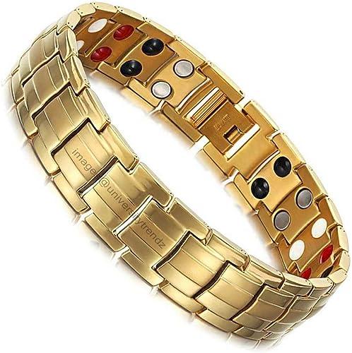 University Trendz 18K Gold Plated Titanium Health Care Therapy Bio Energy Bracelet For Men And Boys