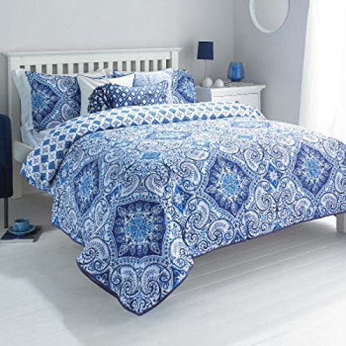 Paoletti Ionia Tagesdecke/Bettüberwurf Perkal, Fadenzahl 180Indigo Blue