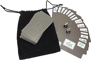 Speed mao 手軽に楽しめる 麻雀 牌 カードタイプ 卓上 ゲーム トランプ サイコロ 保存袋 付き
