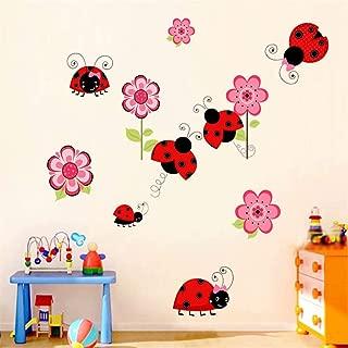Color Ladybug Wall Sticker Animal Cartoon Kindergarten Children's Room Bedroom Decoration Removable Waterproof Wall Art Mural