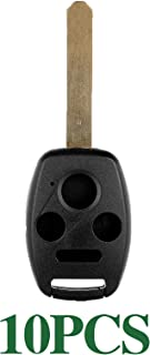 ECCPP Replacement for 10X 4 Buttons Replacement Uncut Keyless Entry Remote Control Car Key Fob Shell Case for Honda Series KR55WK49308