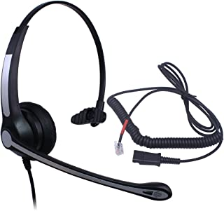 Audicom Mono Call Center Headset with Mic + Quick Disconnect Headphone for Cisco 7902 7905 7905G 7906G 7910 7910+SW 7911 7912 and Snom 300 320 360 370 760 820 821 870 Telephone IP Phones(700RQDGXPB)