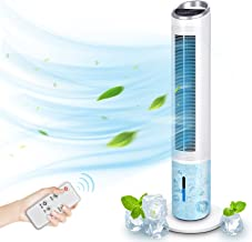 """Evaporative Air Cooler – 40"""" Portable Oscillating Fan Tower Fan with Evaporative Cooler & Humidifier – TRUSTECH"""
