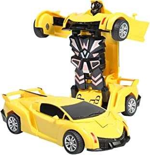 Transform Car Robot, Robot Deformation Car Model Toy for Children, Transforming Robot Remote Control Car with One Button Transformation & Realistic Engine Sounds &360 Speed Drifting 1:18 Scale