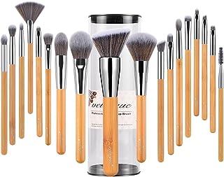 vela yue Professional Makeup Brushes Set - 18 Pieces Vegan Beauty Cosmetics Tools Kit