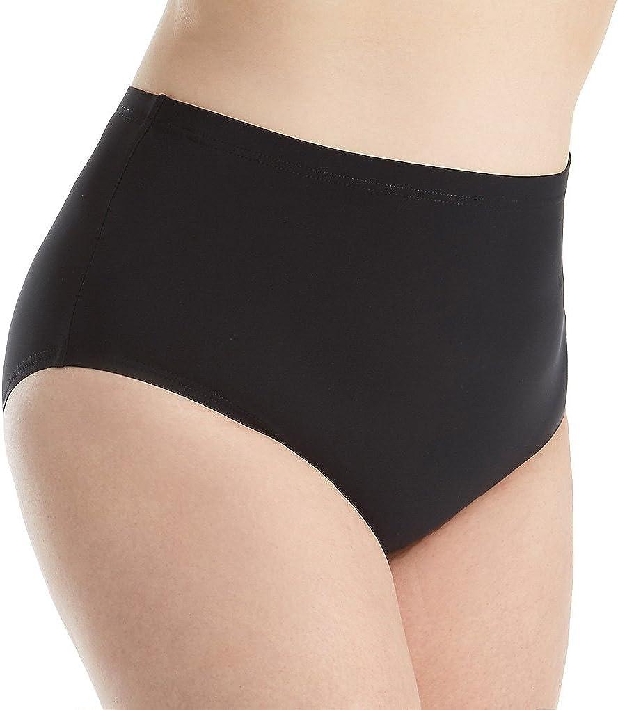 Christina Women's Plus-Size Solid High-Waist Bikini Bottom