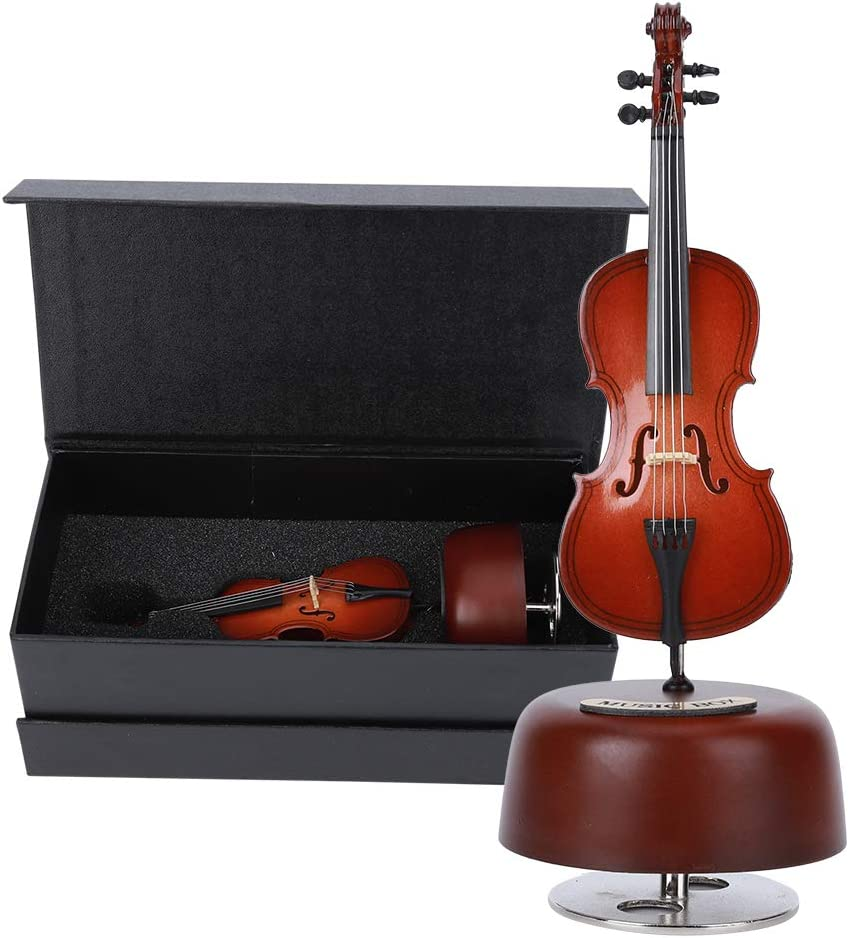 Rotating Music Box gift Stable Cello 7.5 Gif Animer and price revision 3In for X 3